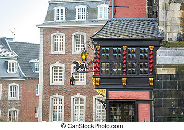 Aachen city center, Germany - Beautiful architectural detail...