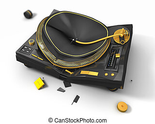 broken turntable, 3d render