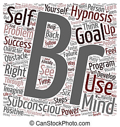Steps To Goal Success With Hypnosis text background wordcloud concept