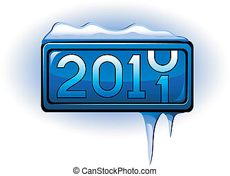 New Year display 2011. Vector over white. EPS 8, AI, JPEG