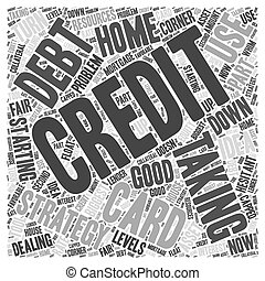 Taking on Credit Card Debt Word Cloud Concept