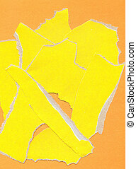 Fragmentary paper - Yellow fragmentary paper as background