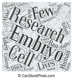 Stem Cell Research Word Cloud Concept