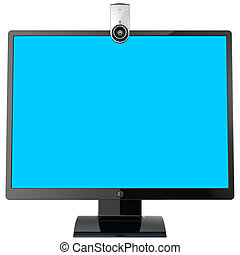 Computer monitor and webcam