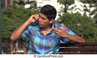 Teen Boy Angry Phone Call
