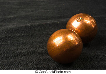 pair of copper Chinese balls Baoding - pair of copper...