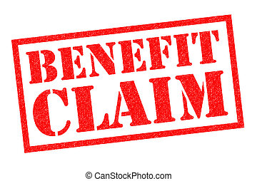 BENEFIT CLAIM Rubber Stamp - BENEFIT CLAIM red Rubber Stamp...