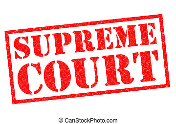 SUPREME COURT red Rubber Stamp over a white background.