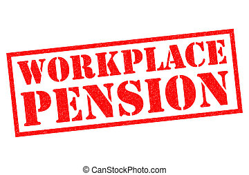 WORKPLACE PENSION red Rubber Stamp over a white background.
