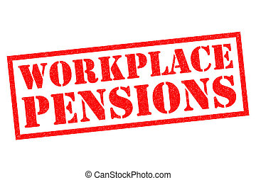 WORKPLACE PENSIONS red Rubber Stamp over a white background.