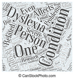 The Essentials On Adult Dyslexia Word Cloud Concept