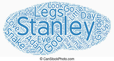 The Good Little Snake text background wordcloud concept