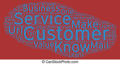 The Golden Rules Of Customer Service text background...