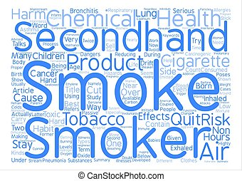 The Hazards of Secondhand Smoke Word Cloud Concept Text...
