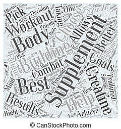 The Best Body Building Supplement Word Cloud Concept