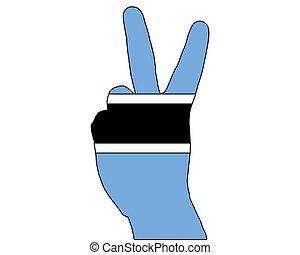 Botswana hand signal