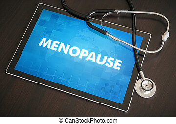 Menopause (menstrual cycle related) medical concept on...