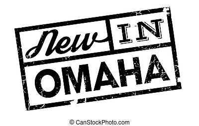 New In Omaha rubber stamp. Grunge design with dust...