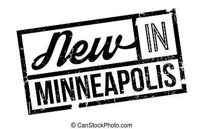 New In Minneapolis rubber stamp. Grunge design with dust...