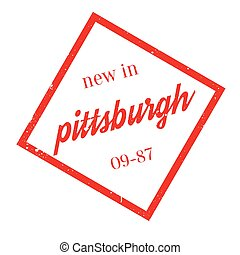 New In Pittsburgh rubber stamp. Grunge design with dust...