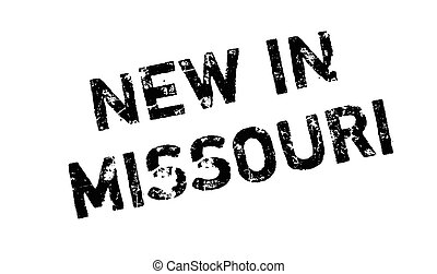 New In Missouri rubber stamp. Grunge design with dust...