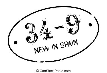 New In Spain rubber stamp. Grunge design with dust...