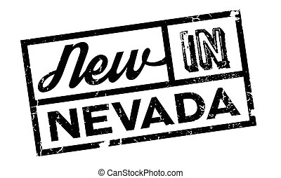 New In Nevada rubber stamp. Grunge design with dust...