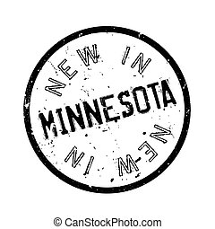New In Minnesota rubber stamp. Grunge design with dust...