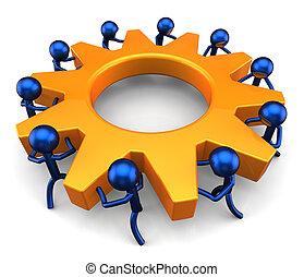Teamwork business - Business process Teamwork concept...
