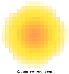 pixel sun element background logo, vector logo of the pixel sun