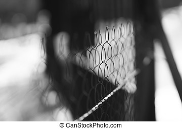 Prison jail fence background