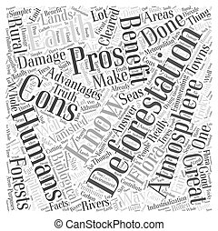 The Pros And Cons of Deforestation Word Cloud Concept