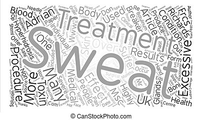 The Sweat Stops Here text background word cloud concept