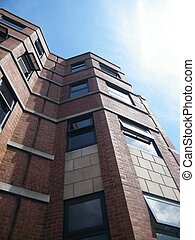 Brick building - Angled photo of a brick building