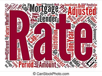The Pros and Cons of Adjustable Rate Mortgage text...