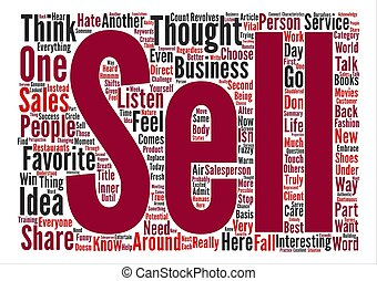 The Sales text background word cloud concept