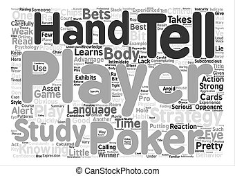 The Tell text background word cloud concept