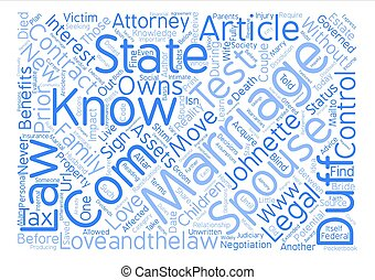 The Marriage Test text background word cloud concept