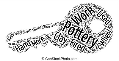 The Shape Pottery Takes text background word cloud concept
