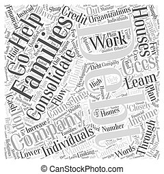 The Top Debt Consolidation Companies Word Cloud Concept