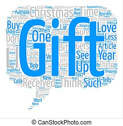 The Perfect Christmas Gift text background word cloud...