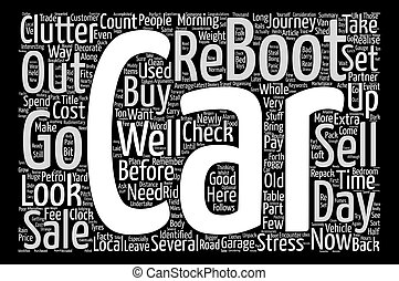 The Stress of Car Boot Sales Word Cloud Concept Text Background