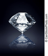 diamond on dark background - blue diamond on dark background