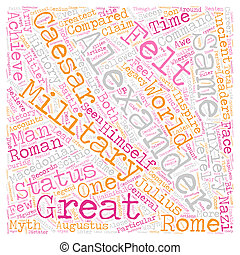 The Legacy of Alexander the Great text background wordcloud...