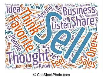 The Sales Word Cloud Concept Text Background