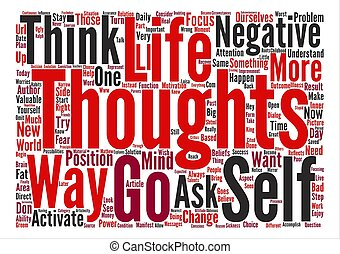 The Power Of The Thoughts text background word cloud concept
