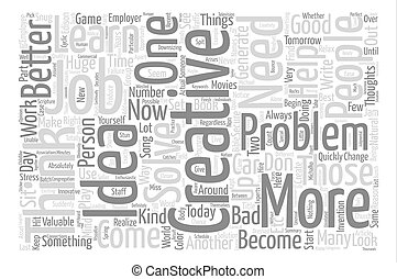 Thoughts On Creativity text background wordcloud concept