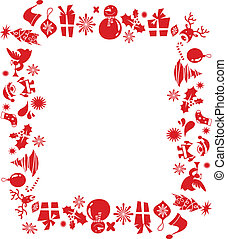 Christmas elements frame