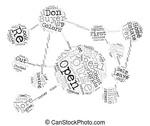 Tips for a Successful Open House text background word cloud...