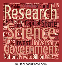 The Wages of Science text background word cloud concept